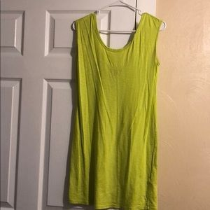 Lime/yellow Express T-Shirt Dress